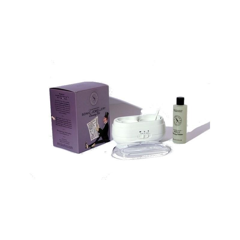 Kit di pulizia preziosi a ultrasuoni + fluido 250 ml