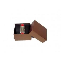 """Set di 6 """"Tessa"""" in cartoncino bronzo per orologio con cuscino nero 90x90xh50 mm"""