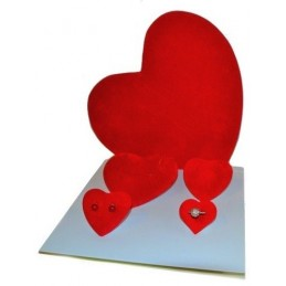 Kit window display hearth-shaped