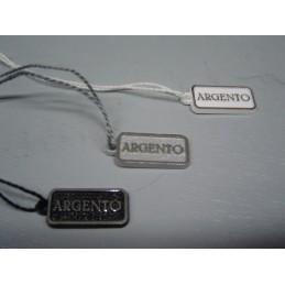 """Cartellini con dicitura """"ARGENTO"""" 20x10 mm - confezione da 100"""