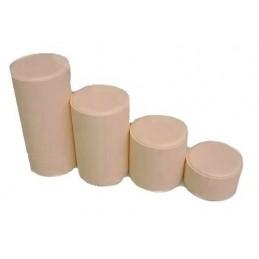 Serie di 4 basi tonde h5-10-15-20 cm/diametro 10 cm