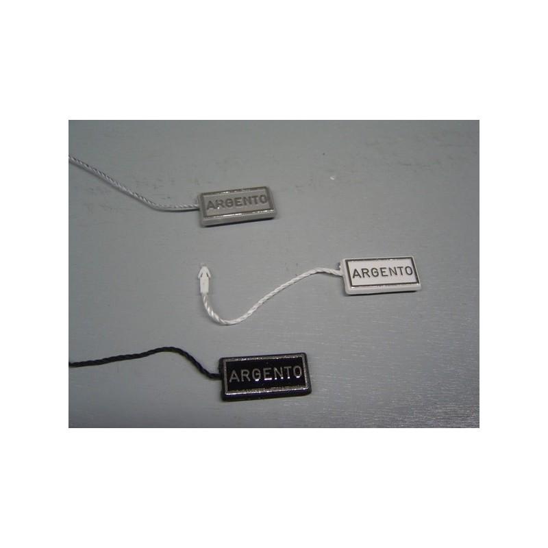 """Sigilli con dicitura """"ARGENTO"""" 23x10 mm - confezione da 100"""