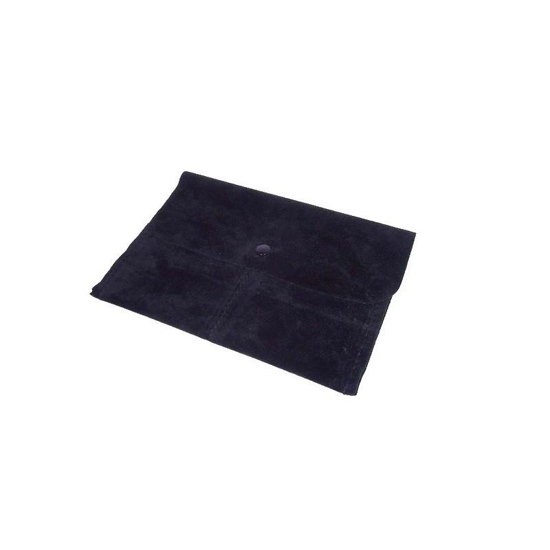 Stock di 10 sacchetti a 2 tasche con bottone 150x105 mm