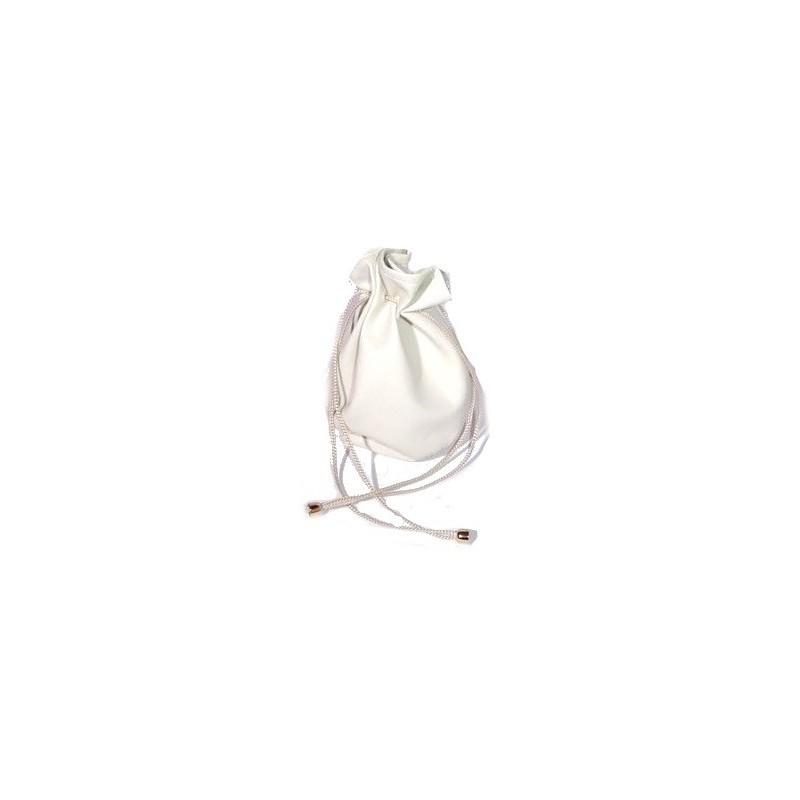 Stock di 50 sacchetti base tonda fintapelle panna misura 2