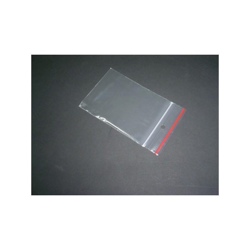 Bustina in plastica trasparente con chiusura 6x8 cm - confezione 100 pezzi