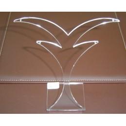Espositore in plexiglass a palma 2 paia orecchini h14 cm