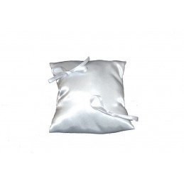 Satin cushion creamy -...