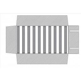Rotolo 16 strisce staccabili con velcro