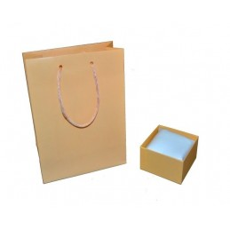 "Jewelbox ""Cipria"" line for bracelet / watch 9x9xh5.5cm + cushion + shopper"