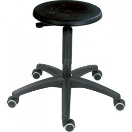 Swivel stool with black...