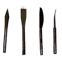 Set of 4 spatulas for...