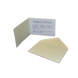 Libretto di garanzia con busta 60x52 mm - confezione 20 pezzi