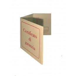 Certificado de garantía...