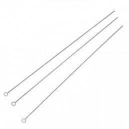 Thin steel needle 0.50mm length 90mm for threading pearl necklace - Pack of 25 PCs