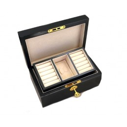 Wooden box with golden key...