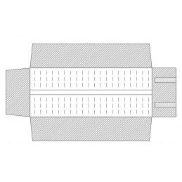 Rotolo 2basi rigide con elastici per gemelli 24+24 340x305 mm