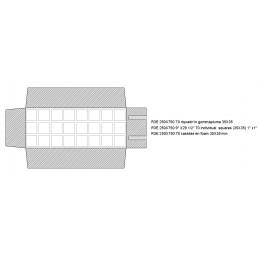 Rotolo 70 riquadri in gommapiuma 35x35