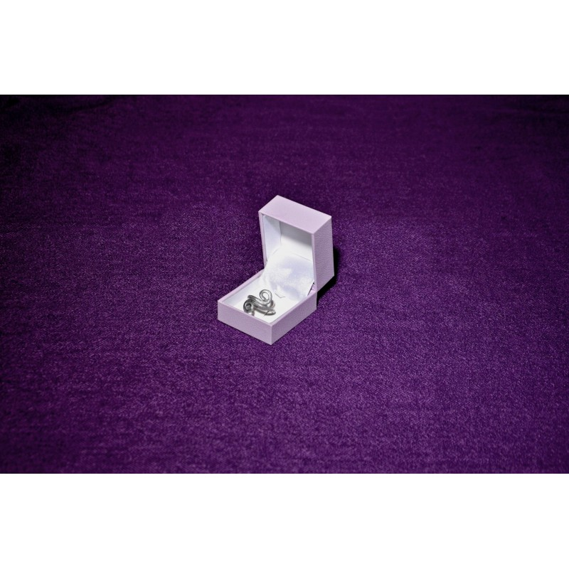 "Astuccio ""Purple"" per anello 47x54 h40 mm"
