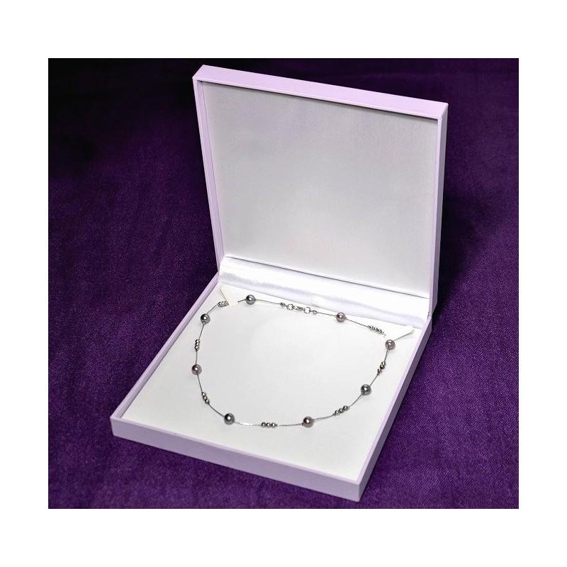 "Estuche ""Purple"" para collar maxi 190x193 h36 mm"