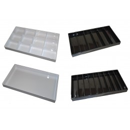 Trays for jewelry in white...