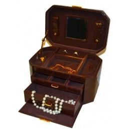 Beauty Case croco brown...