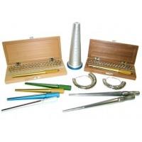 Misuratori anelli e bracciali, attrezzature per orafi.