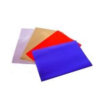 Bolsas base ronda de satén color doble