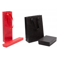Astucci per gioielli in cartoncino rosso e nero