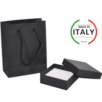 "Jewelry boxes ""Basic Black"" with shoppers"